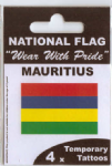Mauritius Country Flag Tattoos.